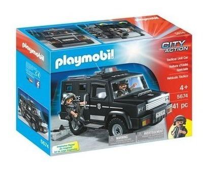 playmobil tactical unit car,  no policias/melonitutito