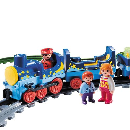 playmobil tren de viaje con vias y accesorios infantil 123