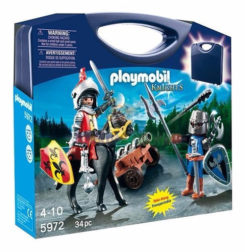 playmobil valijita knights guerreros medievales 34 piezas