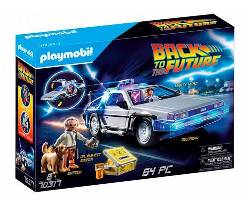 playmobil volver al futuro auto delorean 70317 figuras y acc