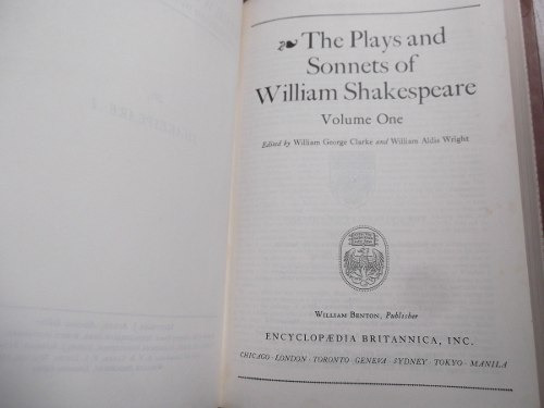 plays and sonnets of william shakespeare ingles 2 tomos