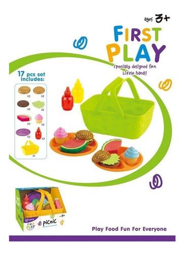 playset 17 pzs picnic juego comida postre juguete verano