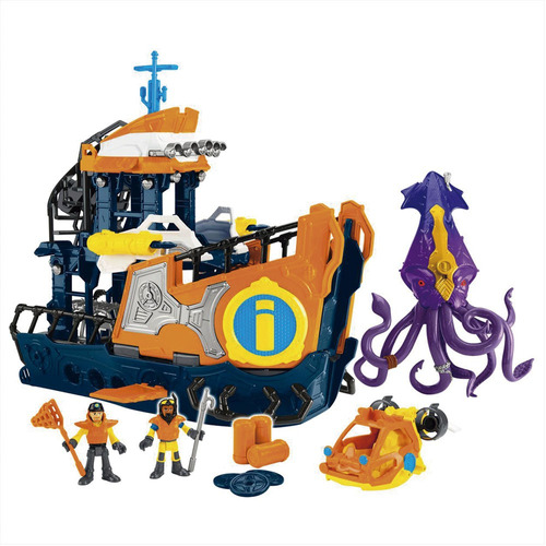 playset imaginext - navio comando do mar - fisher-price