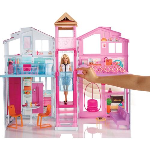 playset real super casa 3 andares - barbie - mattel