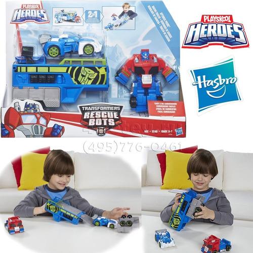 playskool hero optimus transformers rescue bots hasbro b5584