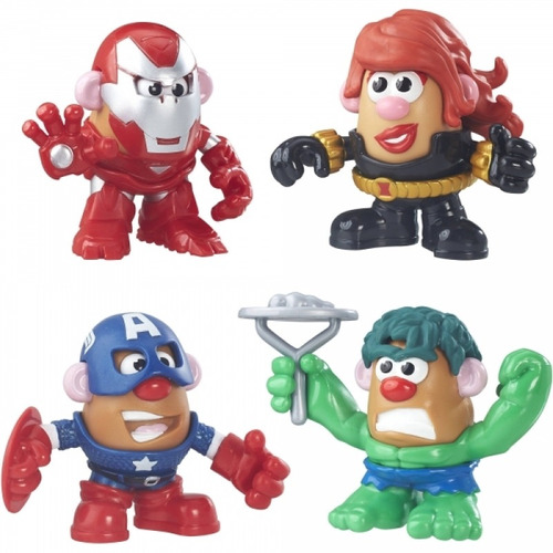 playskool señor cara de papa marvel super rally paquete