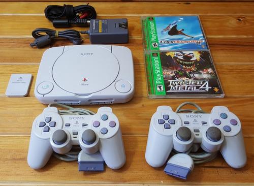 playstation 1 (psone) + controles + juegos + otros! optimo!