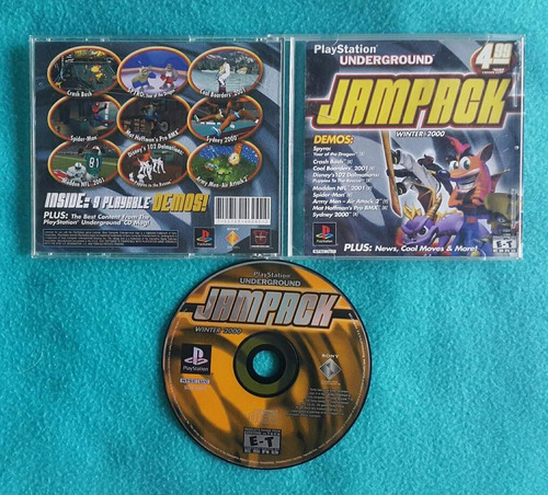 playstation 1 underground jampack winter 2000 / ps1  ps2 ps3