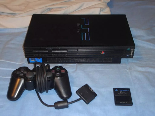 playstation 2 + 15 juegos + 2 controles + 1 memory card
