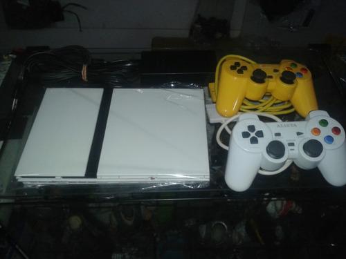 playstation 2 +2 controle +  5 jogos