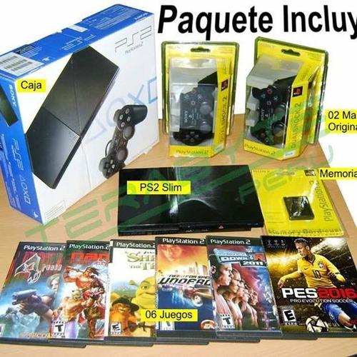 playstation 2 fat,mandos,juegos,memoria envio gratis