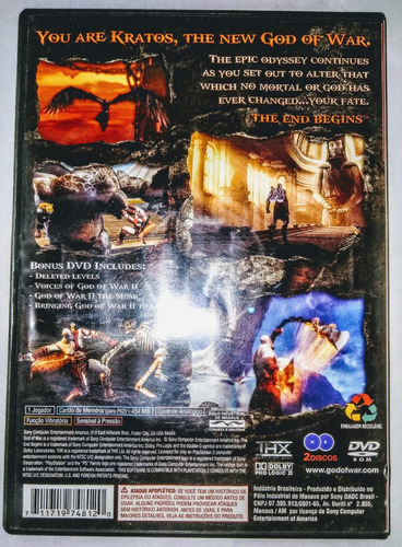 playstation 2 - god of war ii - original americano
