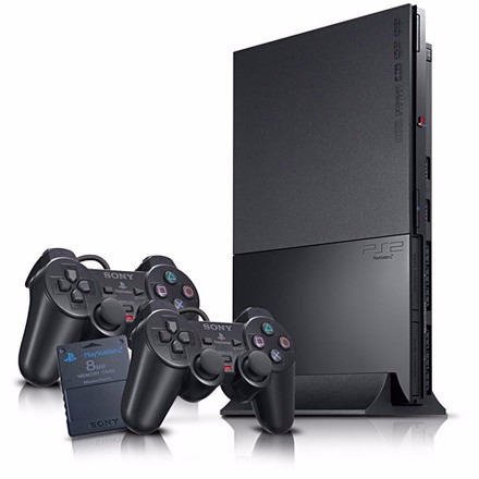playstation 2 matrix + 20 jogos + 2 controles ( semi novo )