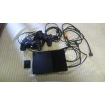 Ps2 Slim 90010 Chipeado + 2 Mandos, 2 Memory Cards Y Juegos.