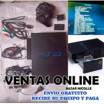 Playstation 2 Fat 50 Juegos En El Disco Duro Envio Gratuito