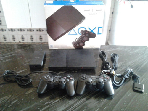 playstation 2 ps2, controles memory card e 5 jogos.