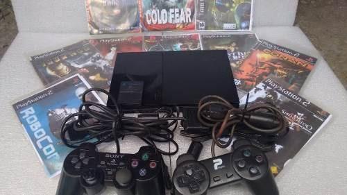 playstation 2 ps2 desbloqueado usado controle jogo completo