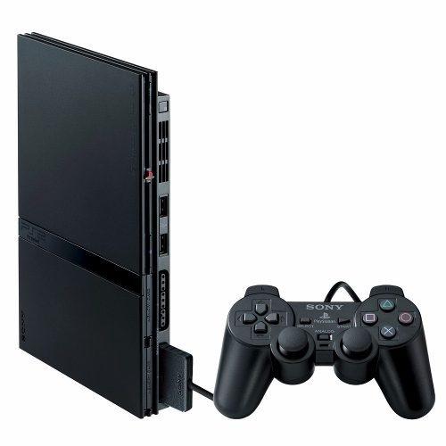 playstation 2 ps2 slim novo desbloqueado + 5 jogos brinde