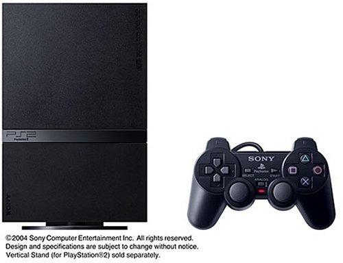 playstation 2 (scph ) consola negra del carbón de leña (imp
