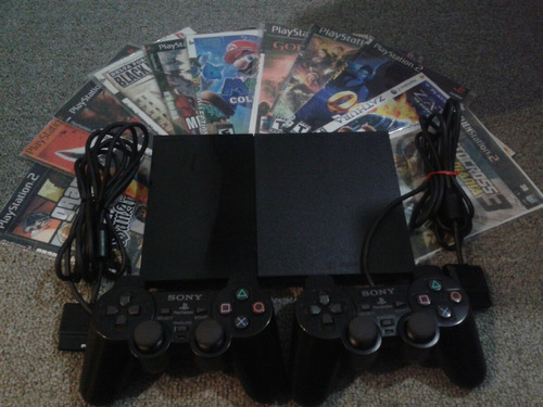 playstation 2 slim, 1 joystick y jueguitos de regalo