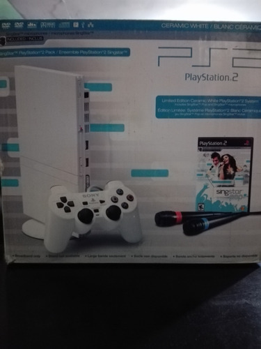 playstation 2 slim blanco versión singstar
