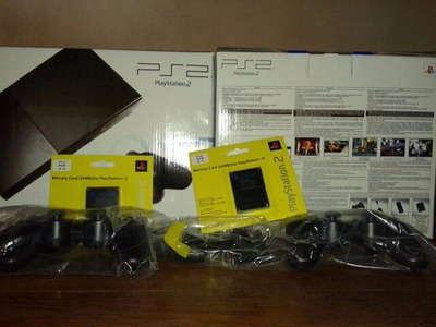playstation 2 slim chipeada + joystick + memory 64 mb