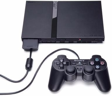 playstation 2 slim chipeada + joystick + memory card