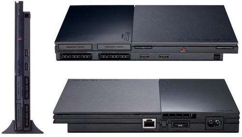 playstation 2 slim chipeada + joystick + memory card