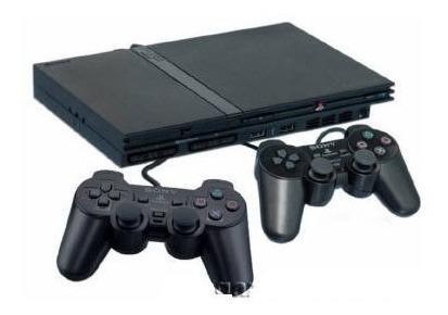 playstation 2 slim play2 + 1 manete + 5 jogos ps2 +garantia