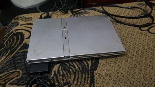 playstation 2 slim prata só o console leia bem em obs  w33