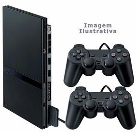 Playstation 2 - Sony - 2 Controles - 5 Jogos Ps2