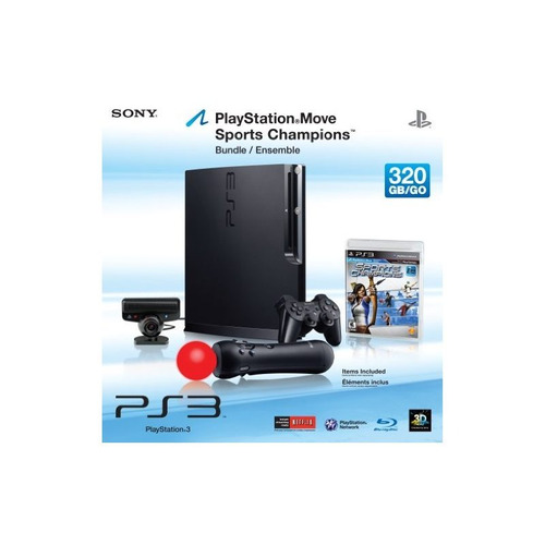 playstation 3 - paquete de 320 gb system / playstation move