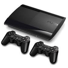 playstation 3 slim + 2 controles + 5 jogos