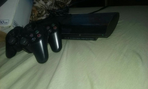 playstation 3 slim 500gb com 2 controles originais e 5 jogos