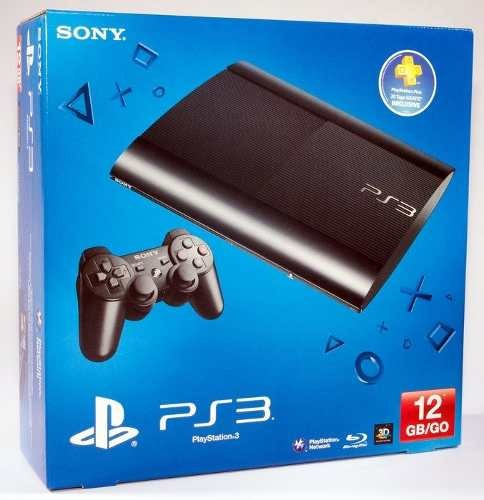 playstation 3 ultra slim 3d 12gb blu-ray wiriless - sony