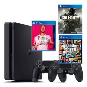 Playstation 4 + 2 Controles + Fifa + Gta V + Call Of Duty