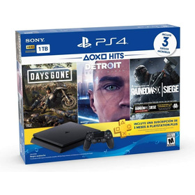Playstation 4 Hits 1tb Con 3 Juegos: Days Gone, Detroit: Bec
