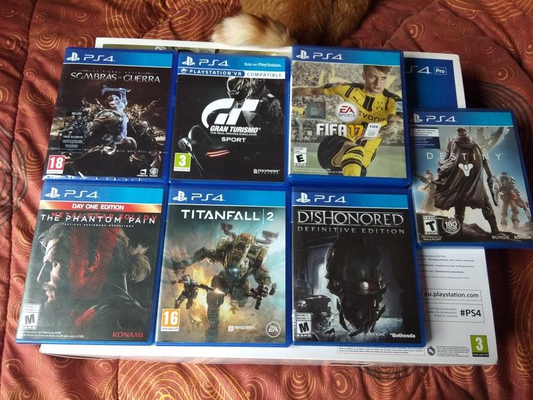 Playstation 4 Pro 1 Tb 7 Juegos 14 000 00 En Mercado Libre