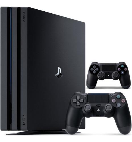 playstation 4 pro 1tb con 2 controles ps4 4k 1 año garantia