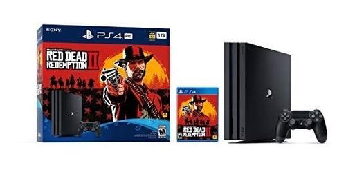 playstation 4 pro 1tb consola red dead redemption 2 bundle
