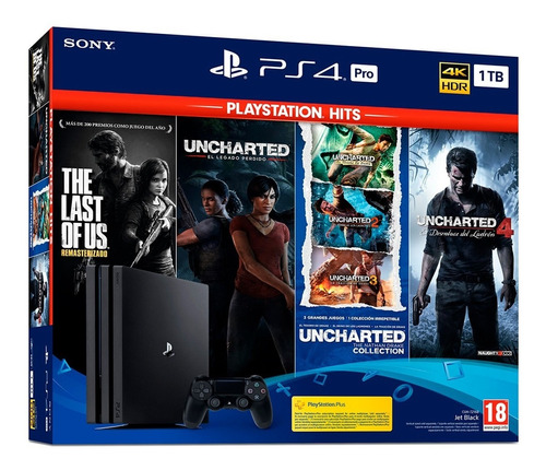 playstation 4 pro bundle uncharted saga + the last of us