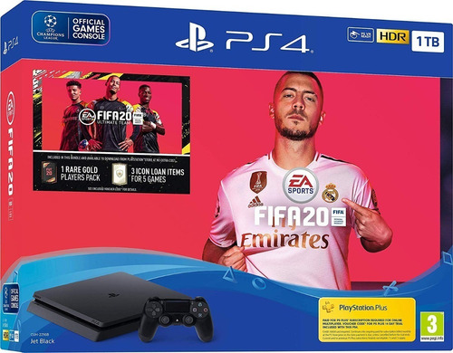 playstation 4 ps4 1 tb slim + fifa 2020  - otec