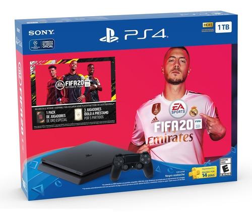 playstation 4 ps4 1tb + joystick + fifa 20 nueva garantia