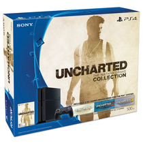 Consola Playstation 4 Jet Black + Juego Uncharted Collection
