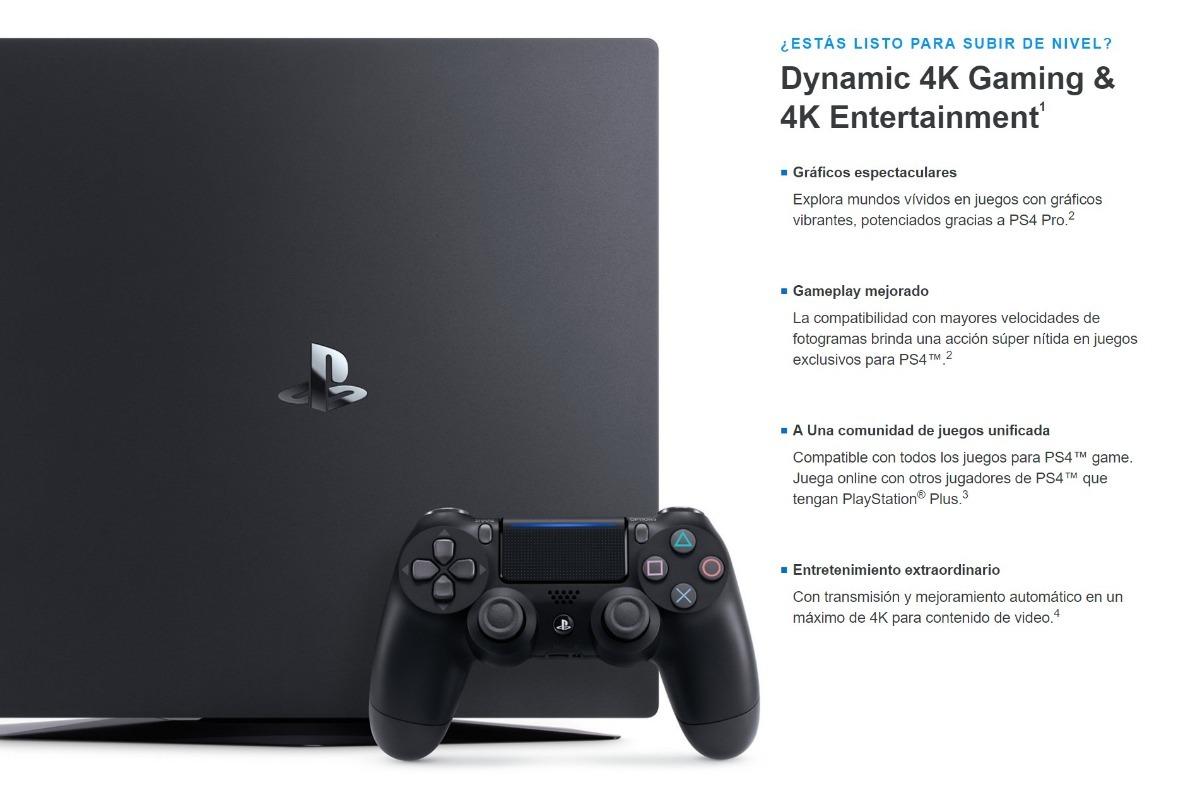Playstation 4 Ps4 Pro 1 Tb 4k 29 999 00 En Mercado Libre