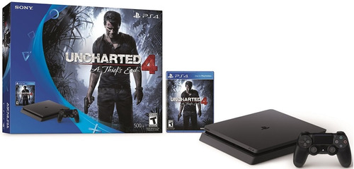 playstation 4, ps4 slim 500gb con uncharted 4 a thief's end