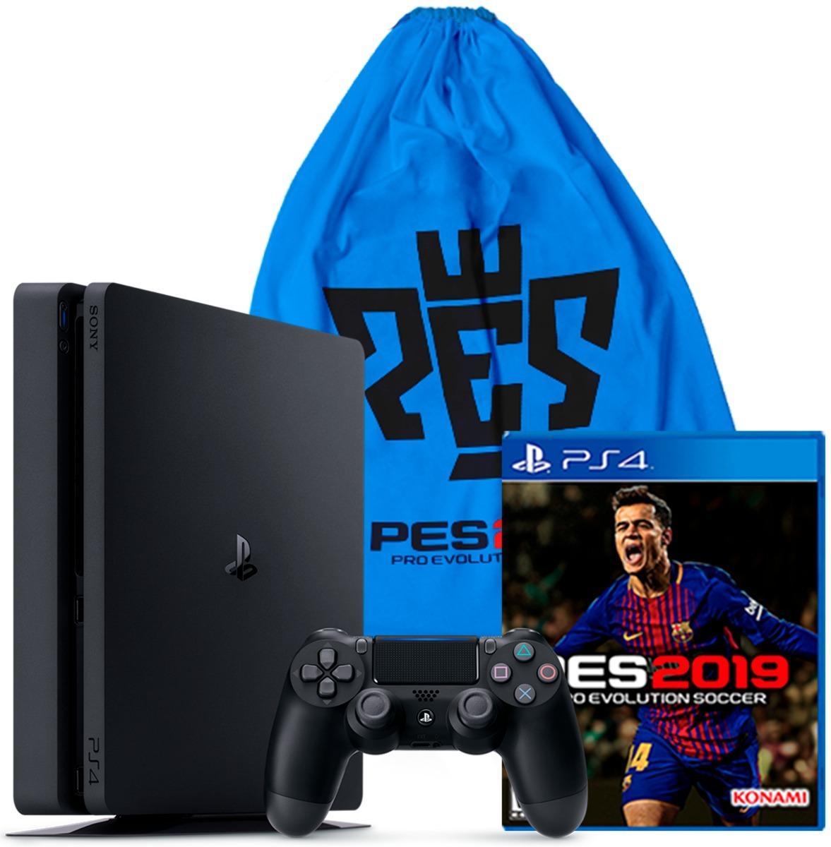 Playstation 4 Slim 1tb Con Juego Pes 2019 Ps4 Obsequio Tula