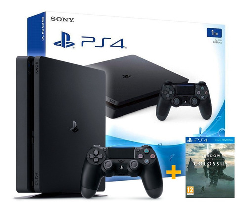 playstation 4 slim 1tb  + jogo shadow of the colossus novo