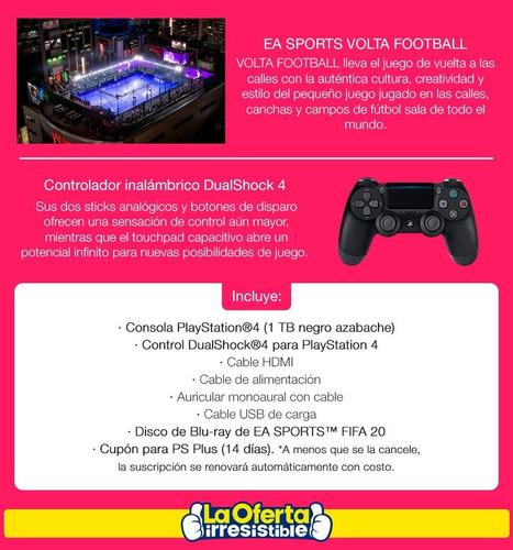playstation 4 slim 1tb + juego físico blu-ray fifa 20 loi