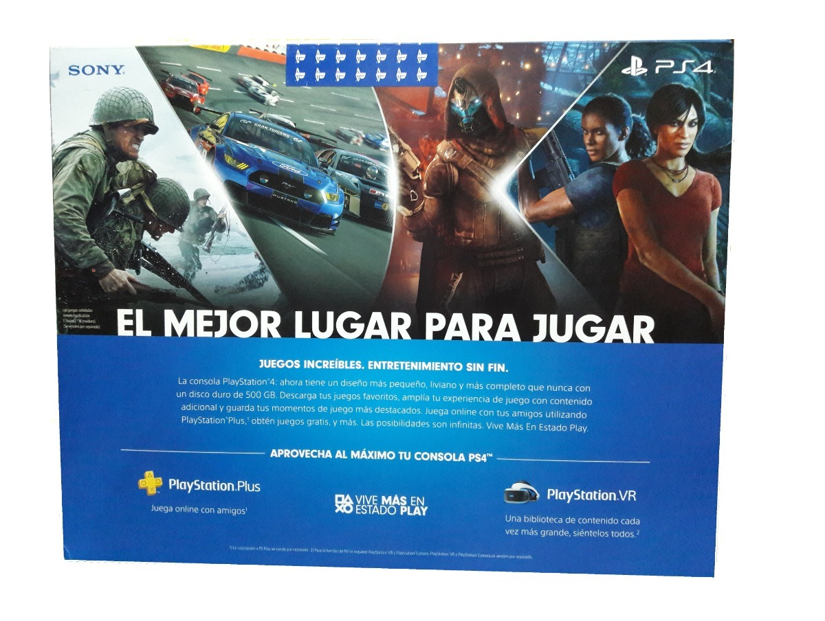 Playstation 4 Slim 500 Gb Nueva Version Con Hdr Garantia